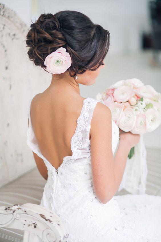 élő virág, menyasszonyi frizura, menyasszonyi haj, esküvői haj,