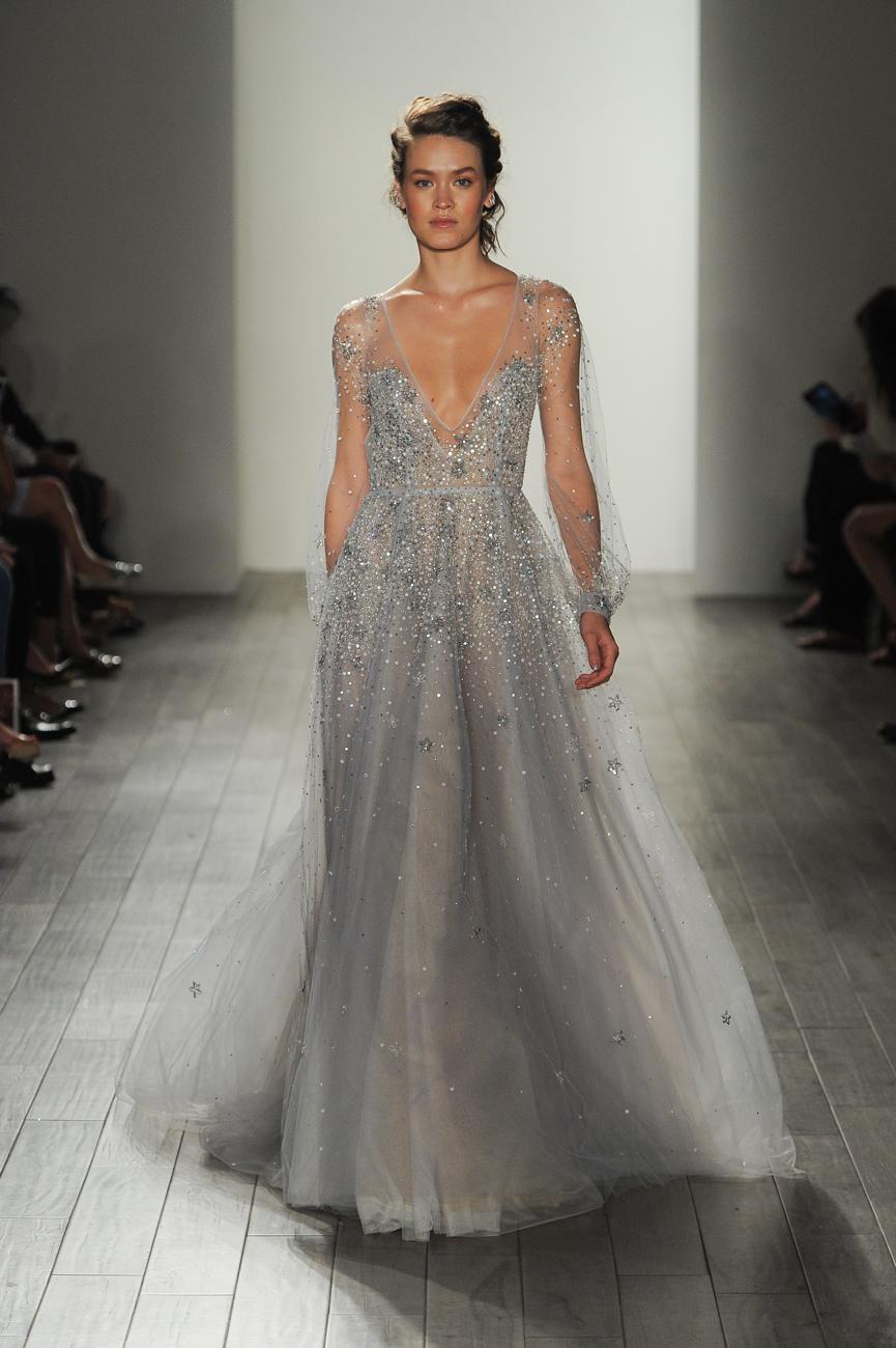 hayley paige ezüst menyasszonyi ruha
