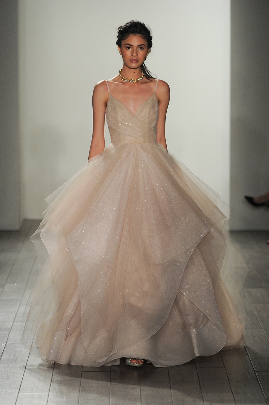 Hayley Paige púder menyasszonyi ruha