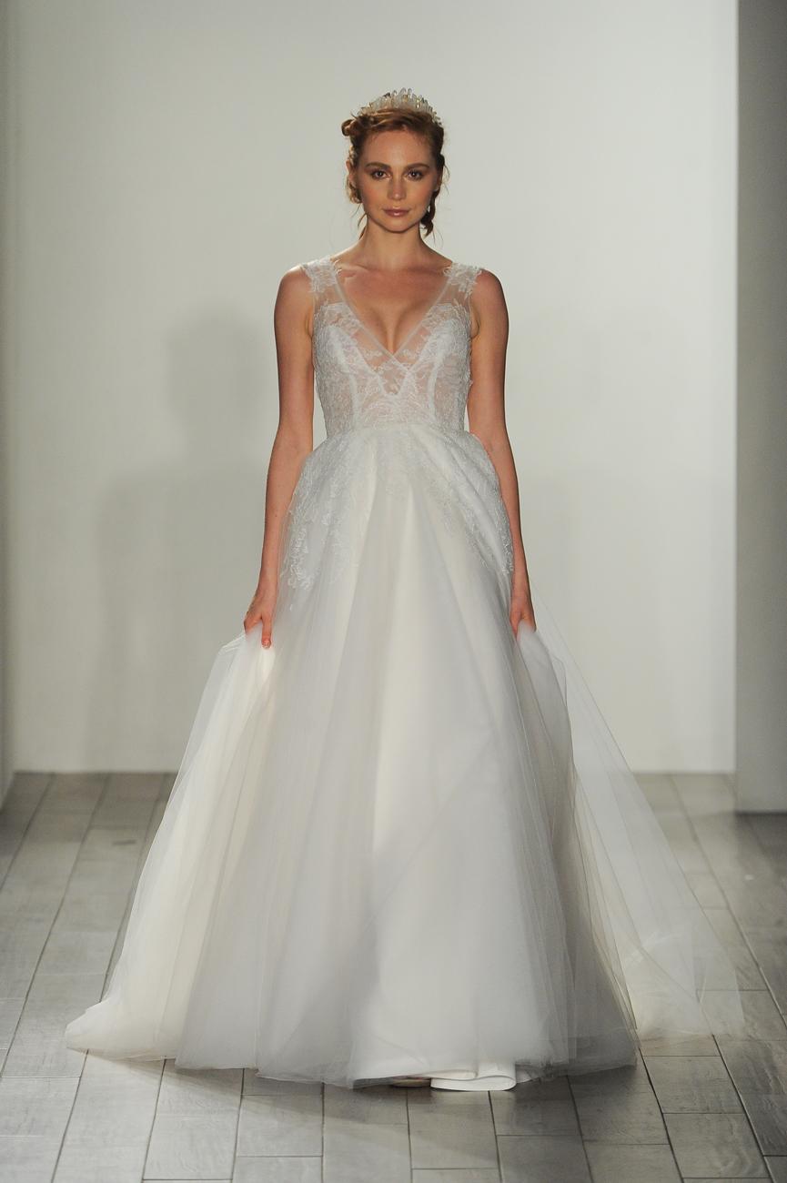 hayley paige fehér csillogó menyasszonyi ruha