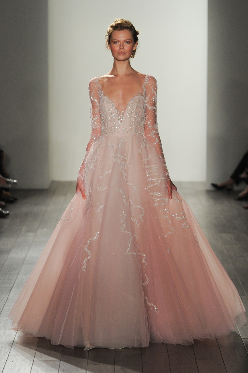 Hayley Paige light pink menyasszonyi ruha