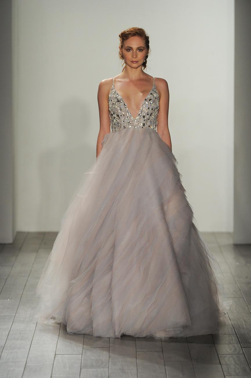Hayley Paige színes menyasszonyi ruha