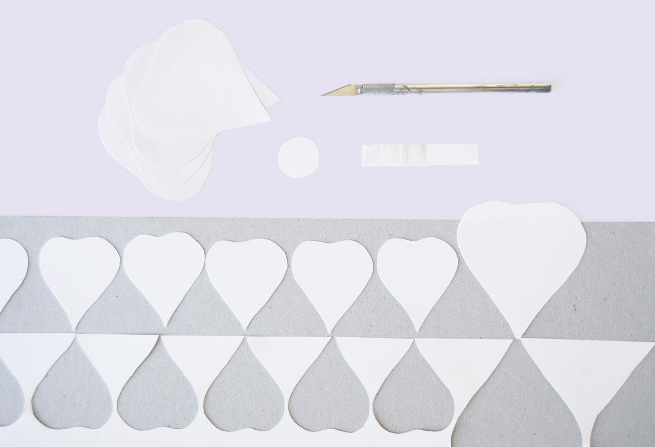 DIY papírvirág esküvőre