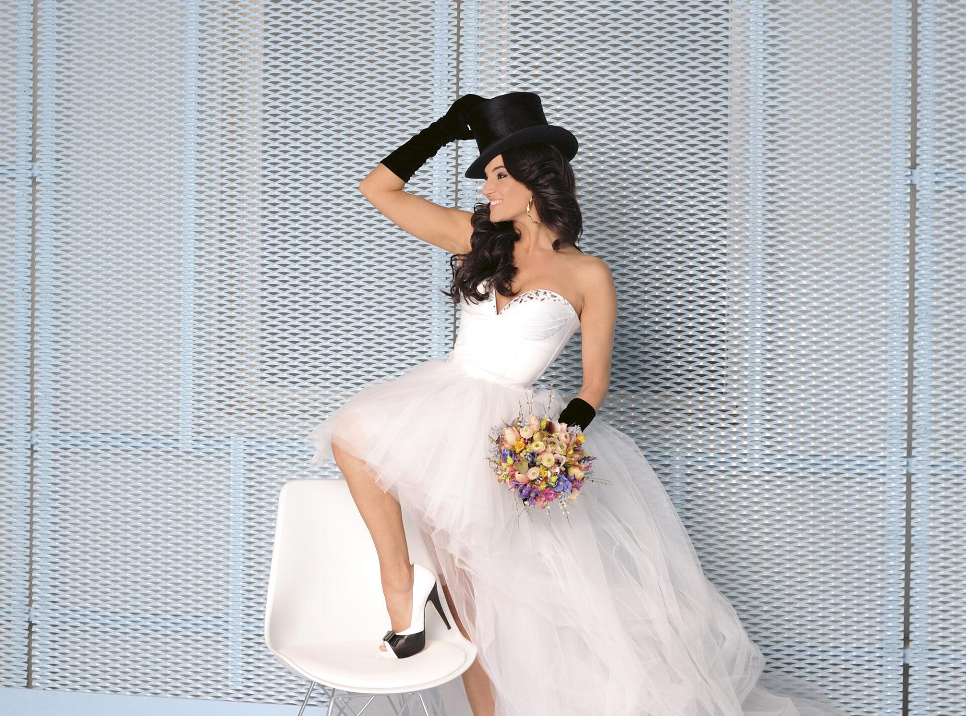 Debreczeni Zita esküvő, menyasszonyi ruha
