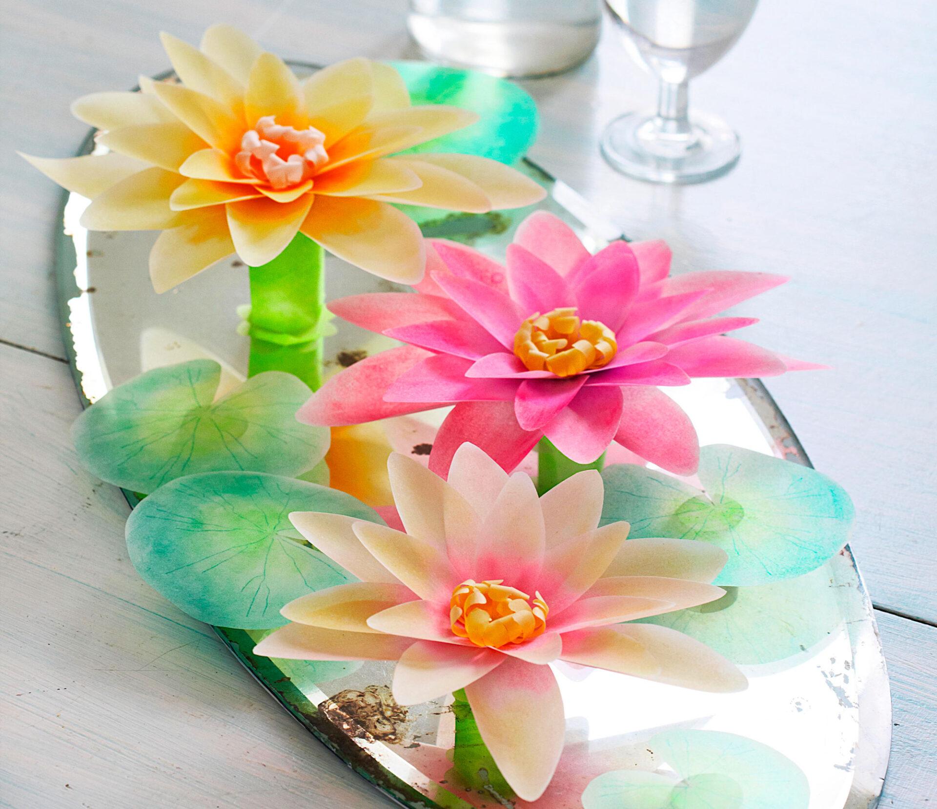 DIY, papírvirág, esküvői dekor