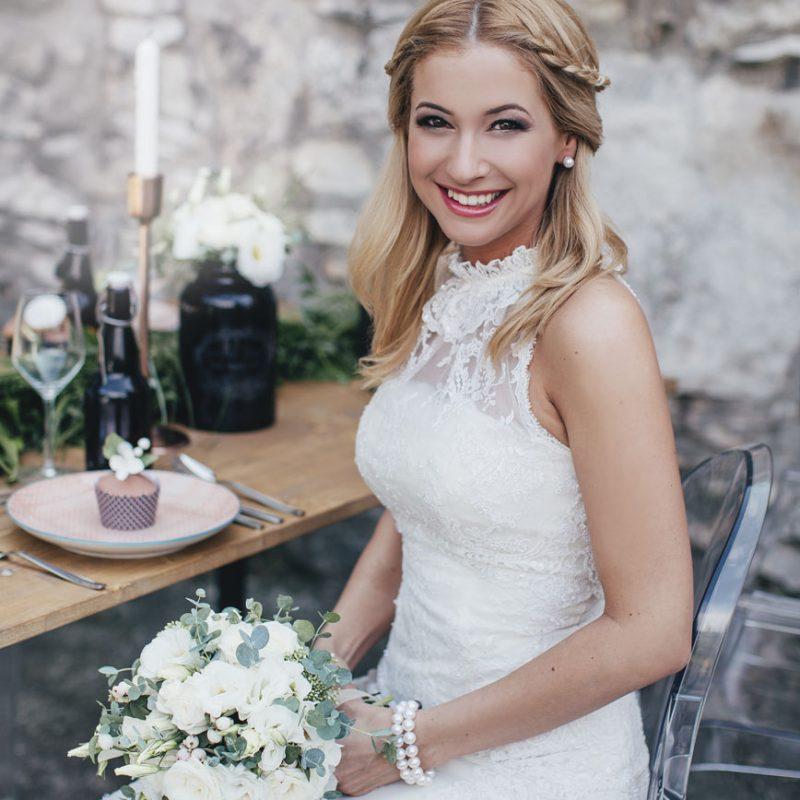 Kerek menyasszonyi csokor
