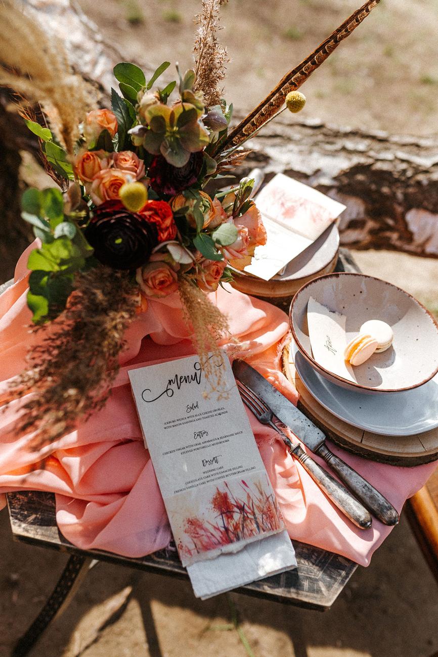 Papír Róka - esküvői dekoros