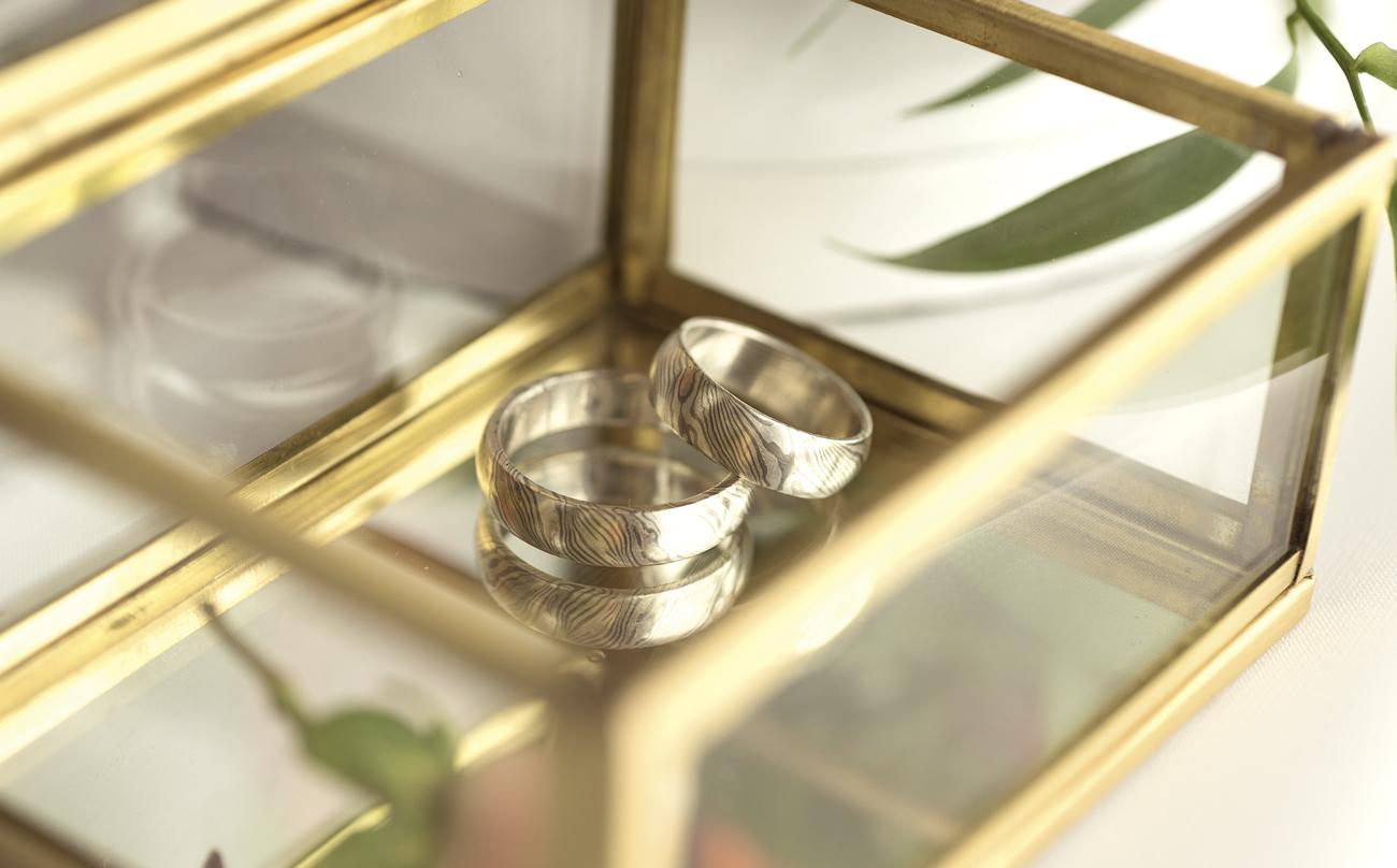 karikagyűrű, eljegyzési gyűrű, mokume