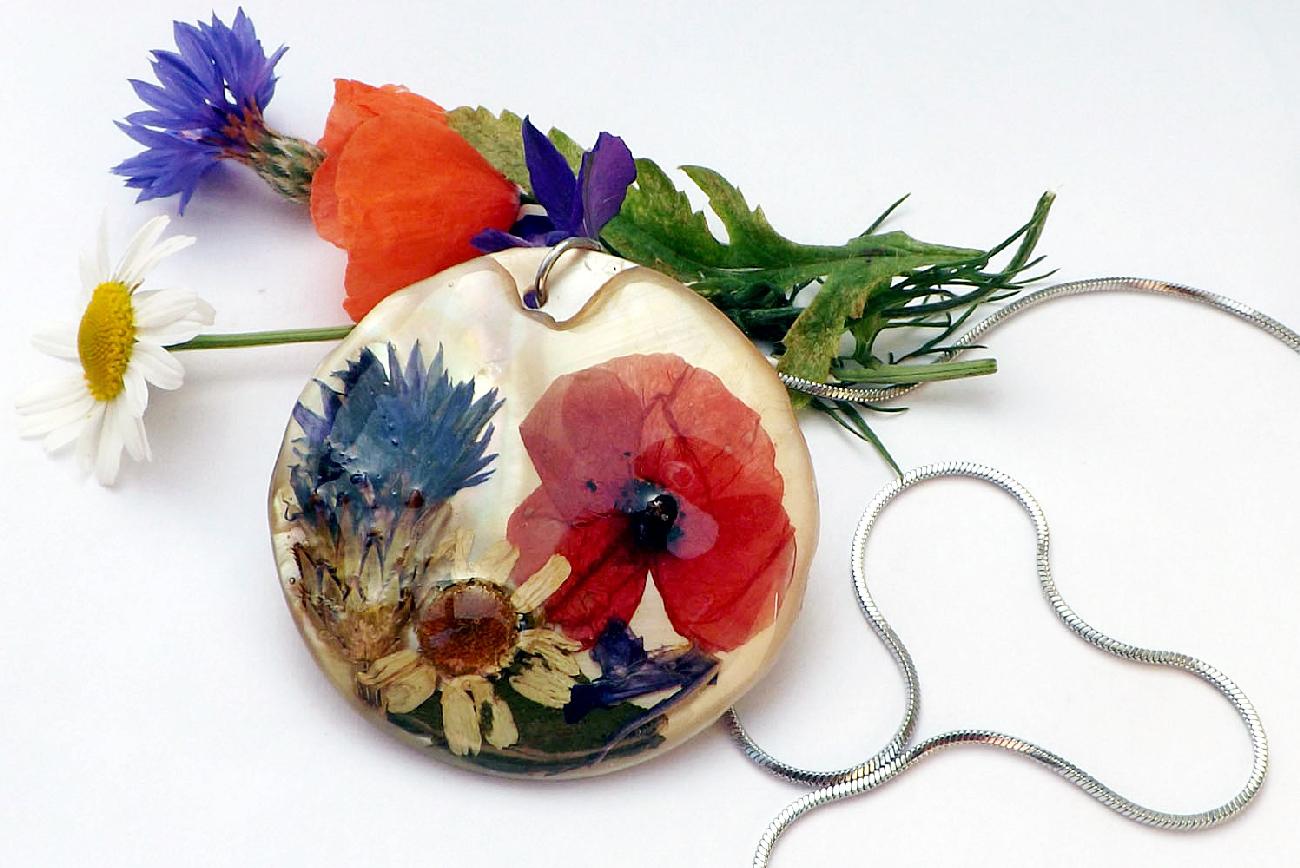 ékszer, menyasszonyi csokor, handmade, amaris flowellery, karkötő, nyaklánc, szárított virágos ékszer