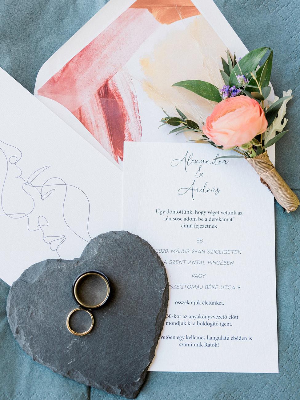 esküvői meghívó, Esküvői papírdekoráció egy rendezvényszervező szemszögéből: Suba Alexandra Papír Róka név alatt készíti az esküvő nélkülözhetetlen elemeit