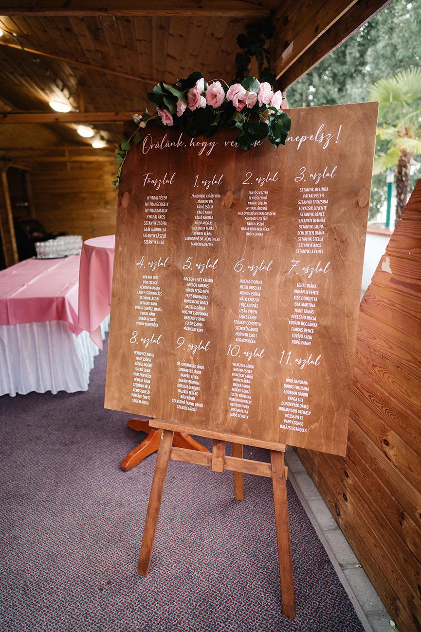 esküvői kalligrafikus táblák, Esküvői kalligrafikus táblák és teljes körű papírdekorációs arculat – A Nuskó Graphics a tervezésben és kivitelezésben is környezettudatos